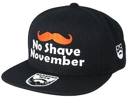 No Shave November Black Snapback - Bearded Man
