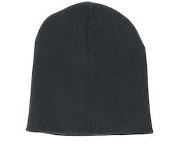 Knitted Short Black Beanie - Beanie Basic