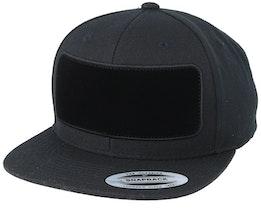 Velvet Patched Black Snapback - Hatstore