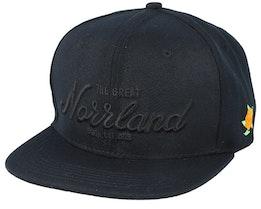 Great Norrland All Black Snapback - Sqrtn