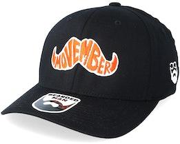Movember Typo Black Flexfit - Bearded Man