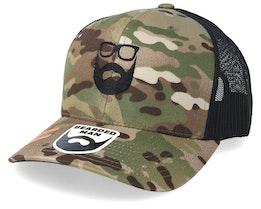Logo Green Camo/Black Trucker - Bearded Man