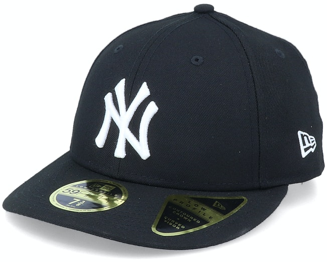 New York Yankees Low Profile 59Fifty Black/White Fitted - New Era