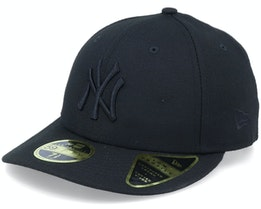 New York Yankees Low Profile 59Fifty Black/Black Fitted - New Era