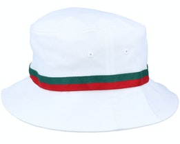 Stripe White Bucket - Yupoong