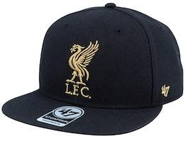 Liverpool Exclusive Metallic Black/Gold Snapback - 47 Brand