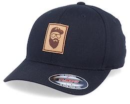 Cap Man Patch Black Flexfit - Bearded Man
