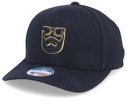 Outline Logo 3D Black 110 Adjustable - Bearded Man