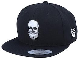 Bearded Skull Black Snapback - Bearded Man