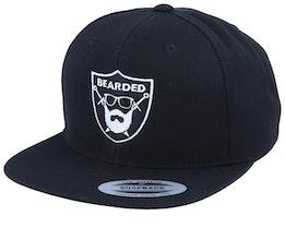 Bearded Sword Badge Black Snapback - Bearded Man