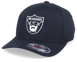 Bearded Sword Badge Black Flexfit - Bearded Man