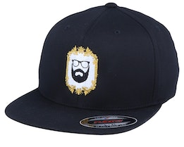 Classic Gold Frame Black Fitted - Bearded Man