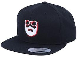 Shadow Logo Black Snapback - Bearded Man