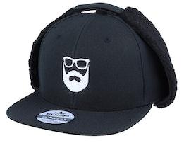 Logo Black Earflap - Bearded Man