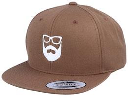Logo Light Brown Snapback - Bearded Man