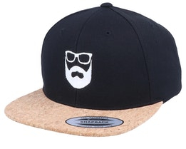 Logo Black/Cork Snapback - Bearded Man
