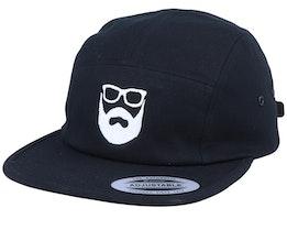 Logo Black/White 5-Panel - Bearded Man
