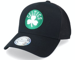 Boston Celtics Team Logo Black 110 Trucker - Mitchell & Ness