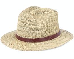Messer Fedora Tan Straw Hat - Brixton