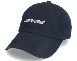 Classic Strip Black Dad Cap - Santa Cruz
