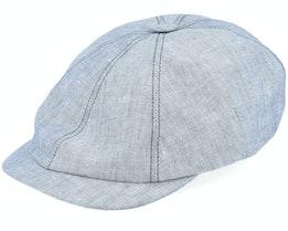 Seven Big Linen Grey Flat Cap - Mayser
