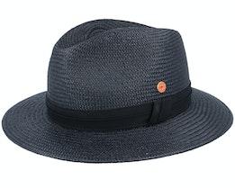 Gero Panama Black Straw Hat - Mayser