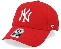 New York Yankees Mvp Red/White Adjustable - 47 Brand