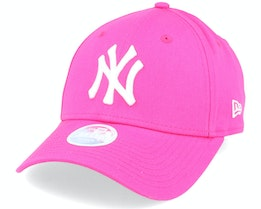 New York Yankees Womens Fashion Essential 9Forty Pink/White Adjustable - New Era