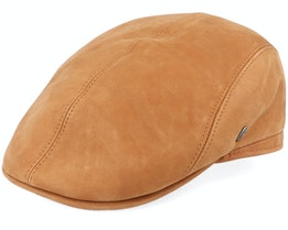 M22Suede Leather Brown Flat Cap - City Sport