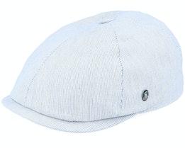 S22 Stripe White/Grey Flat Cap - City Sport