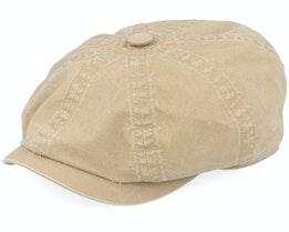Hatteras Delave Organic Cotton Khaki Flat Cap - Stetson