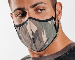 Antimicrobial Camo Face Mask - Brixton