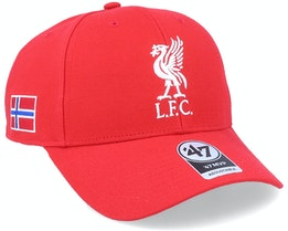 Liverpool Norway Sure Shot Mvp Red/White Adjustable - 47 Brand