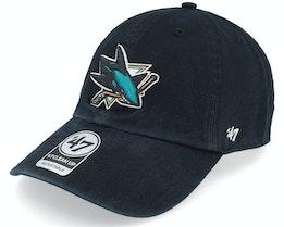San Jose Sharks Clean Up Dad Cap Black Adjustable - 47 Brand