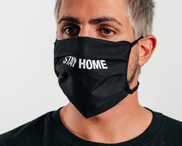 1-Pack Stay Home Black Face Mask - Headzone