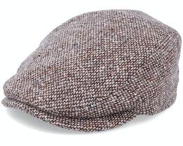 Frankie Tweed Brown Flat Cap - Mayser