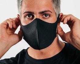 1-Pack Fashion Black Face Mask - Zeri