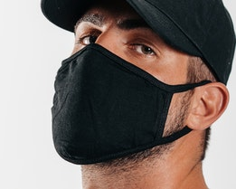 1-Pack Black Face Mask - Headzone
