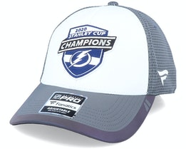 Tampa Bay Lightning 2020 Stanley Cup Champions White/Grey Adjustable - Fanatics
