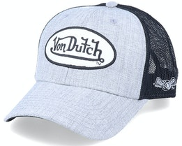 Terry Light Heather Grey/Black Trucker - Von Dutch