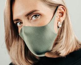 1-Pack Dark Green Face Mask - Zeri