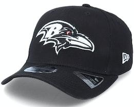 Baltimore Ravens Essential 9FIFTY Stretch Snap Black Adjustable - New Era