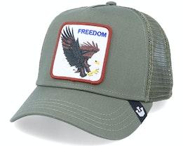 Hatstore x Exclusive Freedom Dark Green Trucker - Goorin Bros.