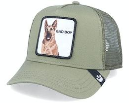 Hatstore x Exclusive Bad Boy Olive Trucker - Goorin Bros.
