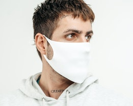 1-Pack White Fashion Mask With Stopper - Zeri