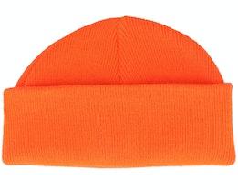 Fluorecent Orange Short Beanie - Beanie Basic