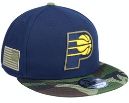 Indiana Pacers 9Fifty All-Star Game Camo Navy Snapback - New Era