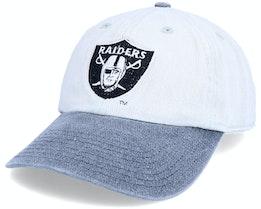 Las Vegas Raiders Old School NFL Vintage Grey/Black Dad Cap - Twins Enterprise