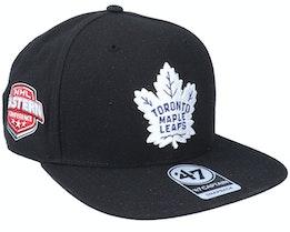 Hatstore Exclusive x Toronto Maple Leafs Sure Shot Captain Black Snapback - 47 Brand