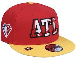 Atlanta Hawks NBA21 Draft Em 9FIFTY Red Snapback - New Era